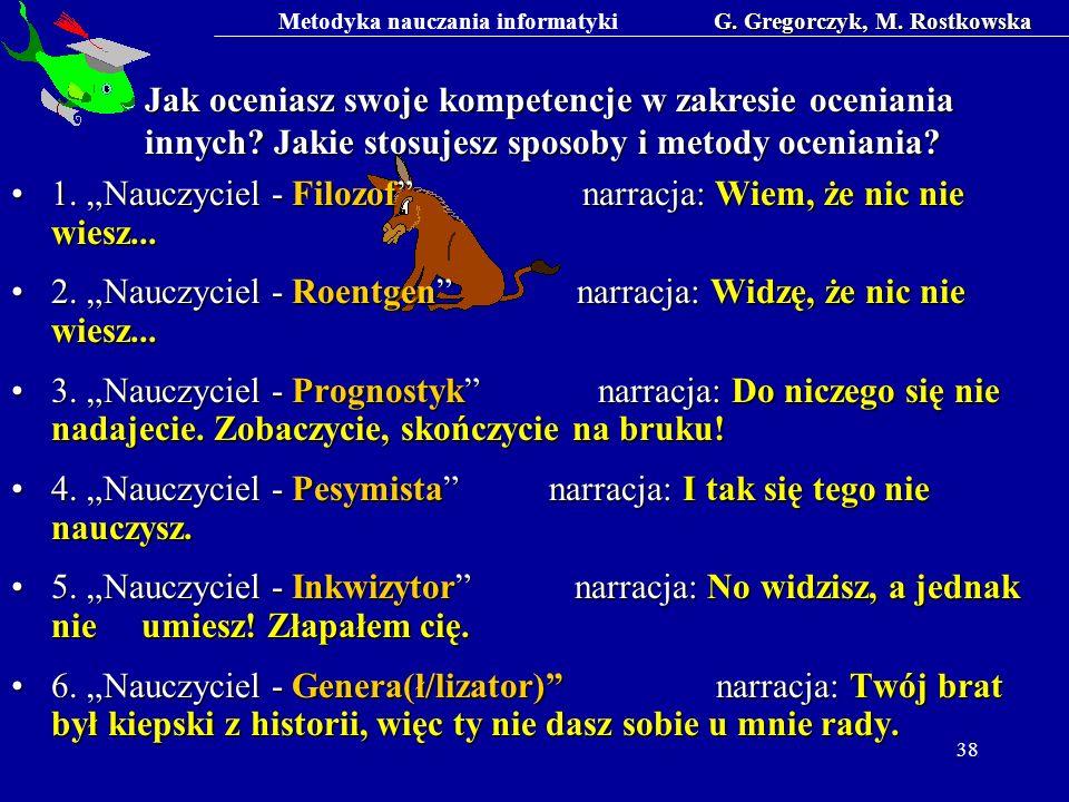 G. Gregorczyk, M. Rostkowska