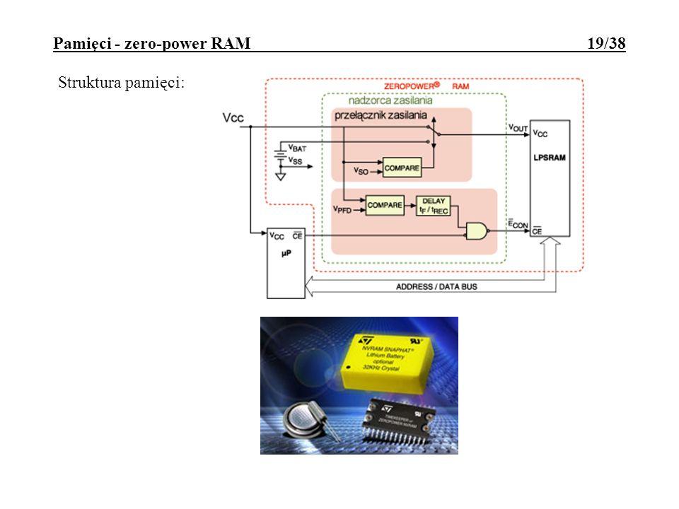 Pamięci - zero-power RAM 19/38