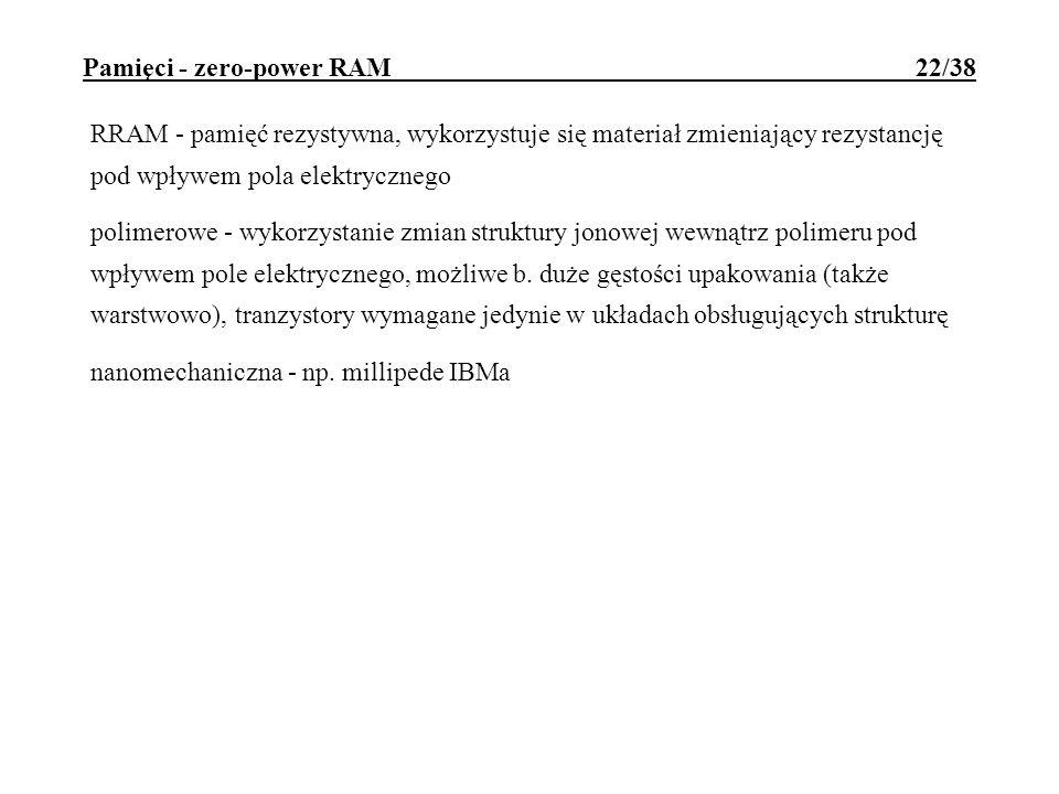Pamięci - zero-power RAM 22/38
