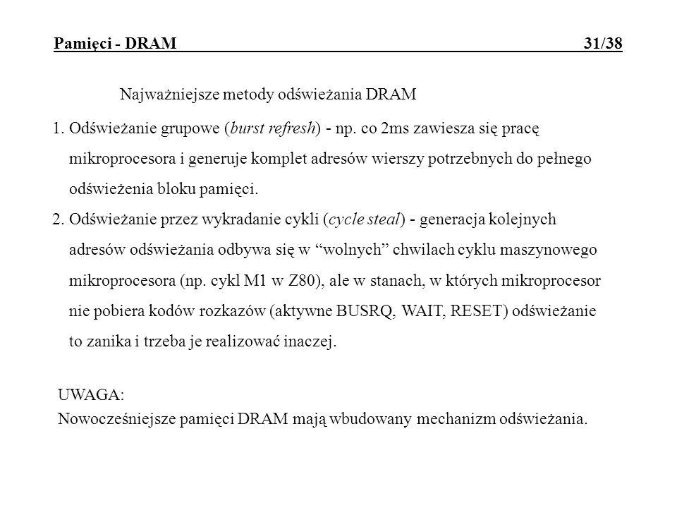 Pamięci - DRAM 31/38
