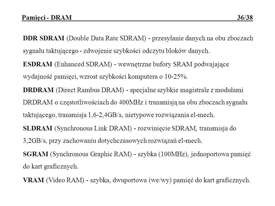 Pamięci - DRAM 36/38