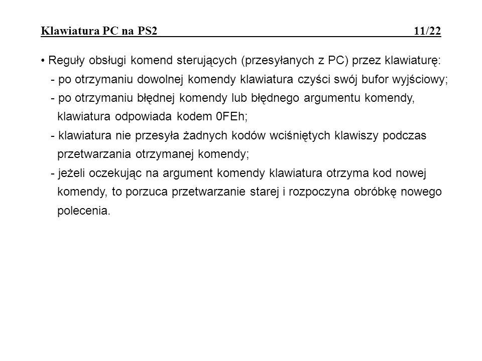 Klawiatura PC na PS2 11/22