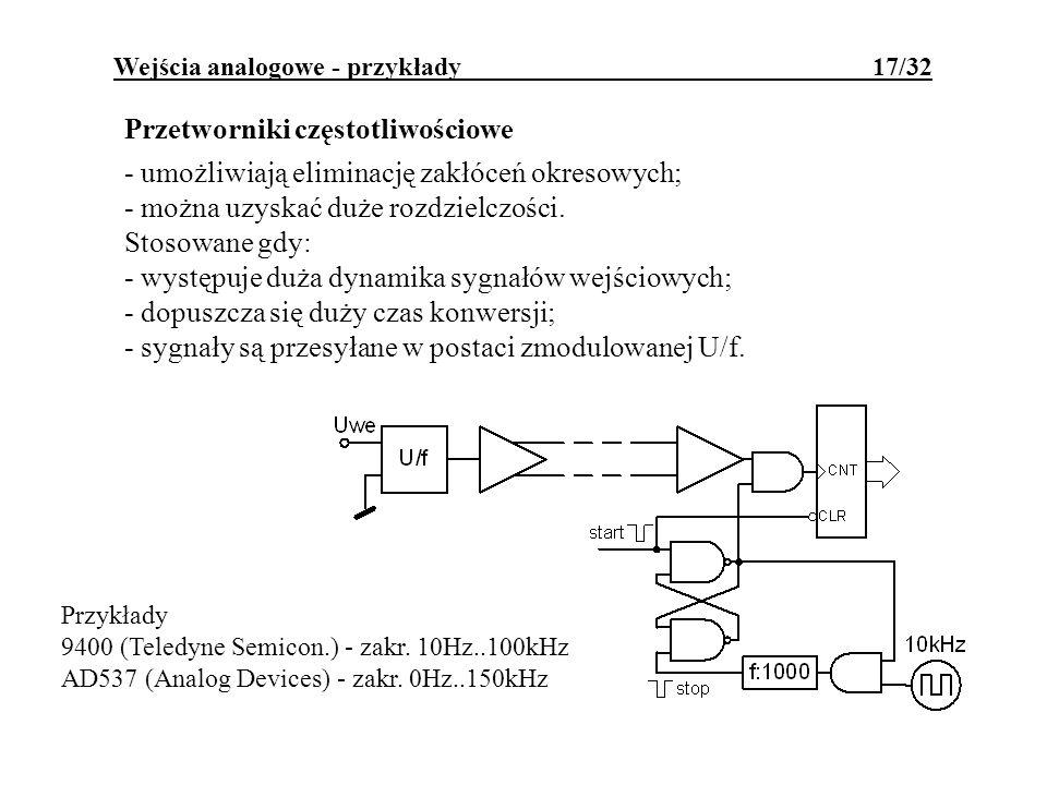 Wejścia analogowe - przykłady 17/32