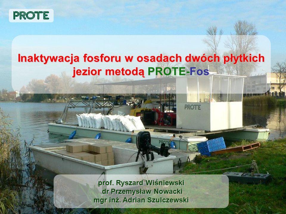 Inaktywacja fosforu w osadach dwóch płytkich jezior metodą PROTE-Fos
