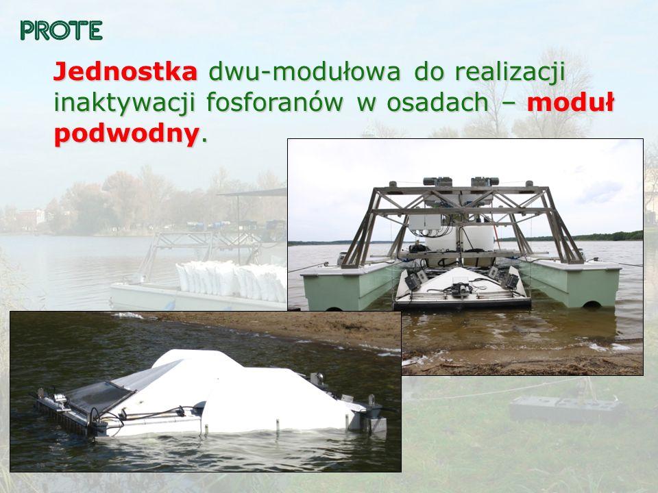 Jednostka dwu-modułowa do realizacji inaktywacji fosforanów w osadach – moduł podwodny.