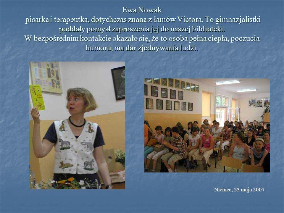 Ewa Nowak pisarka i terapeutka, dotychczas znana z łamów Victora