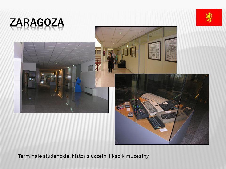 zaragoza Terminale studenckie, historia uczelni i kącik muzealny