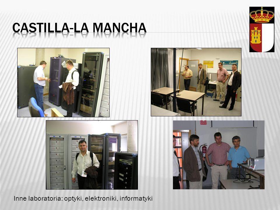 Castilla-la mancha Inne laboratoria: optyki, elektroniki, informatyki