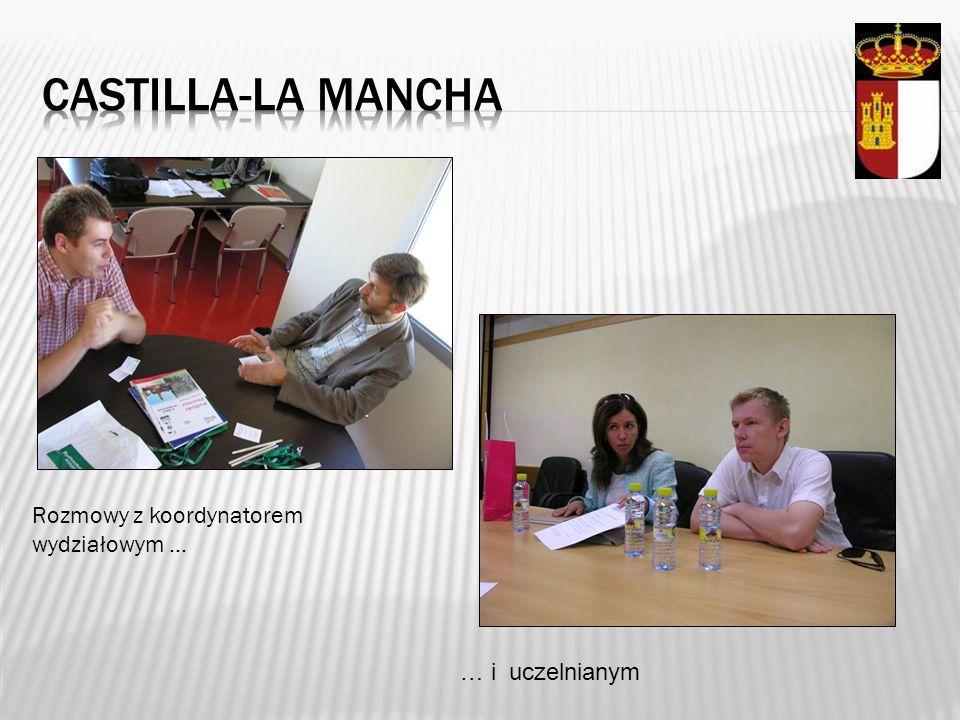 Castilla-la mancha Rozmowy z koordynatorem wydziałowym …