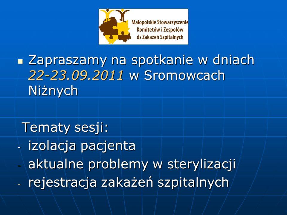 Zapraszamy na spotkanie w dniach 22-23.09.2011 w Sromowcach Niżnych