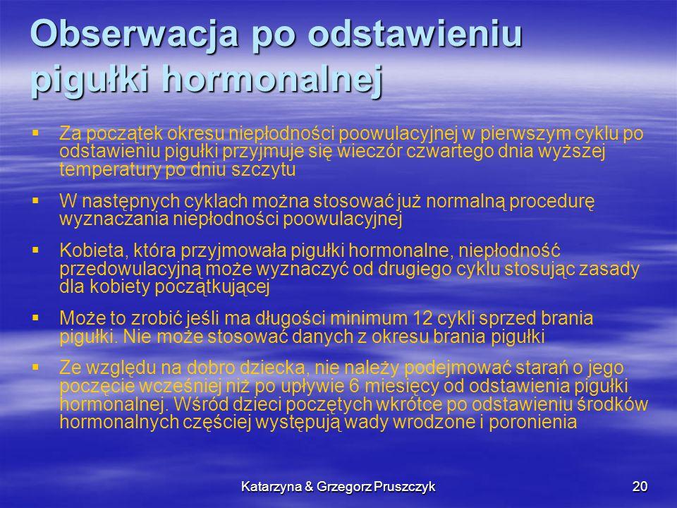 Obserwacja po odstawieniu pigułki hormonalnej