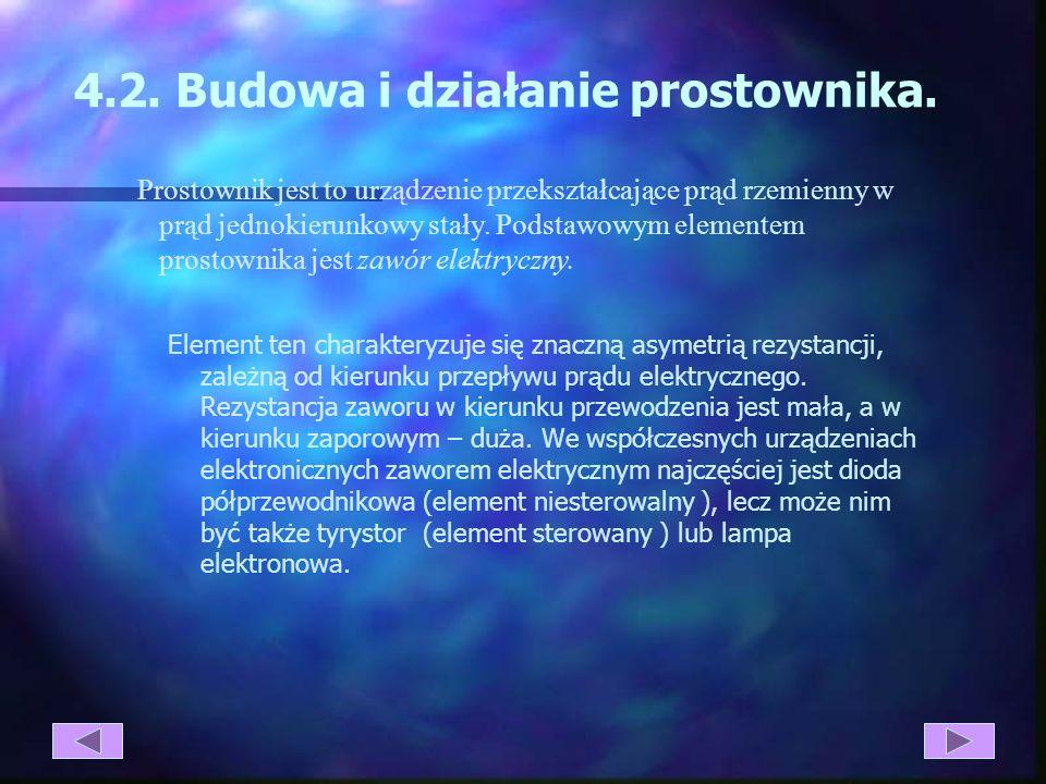 4.2. Budowa i działanie prostownika.