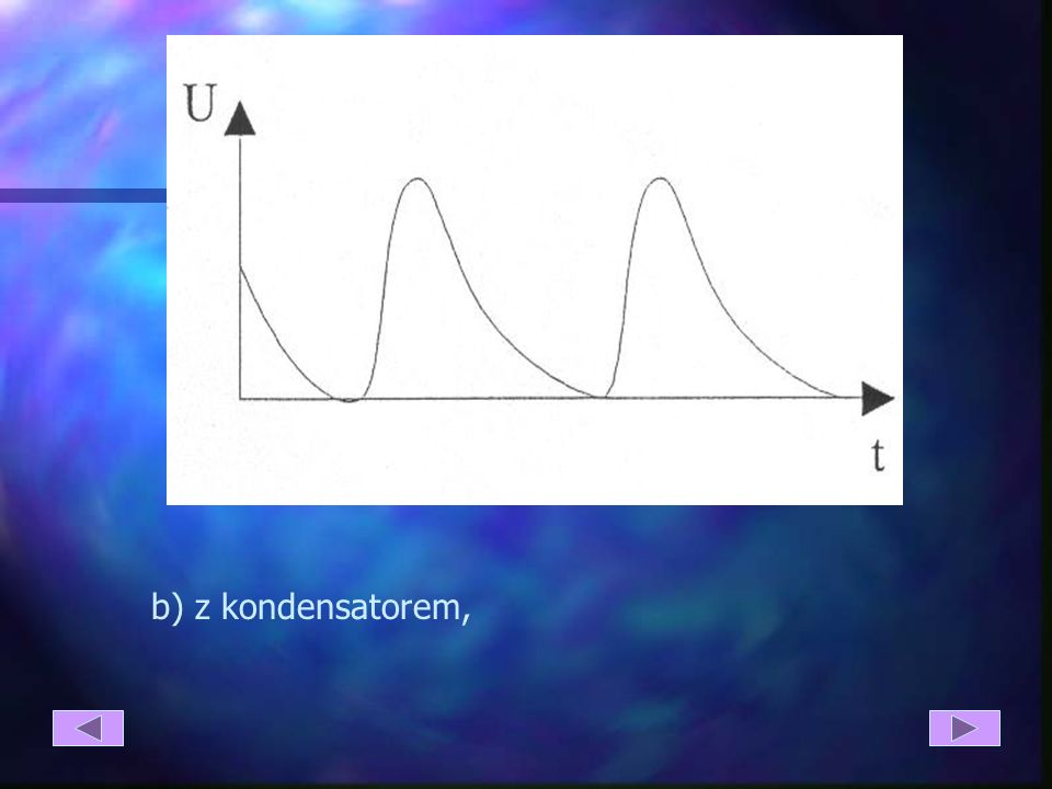 b) z kondensatorem,
