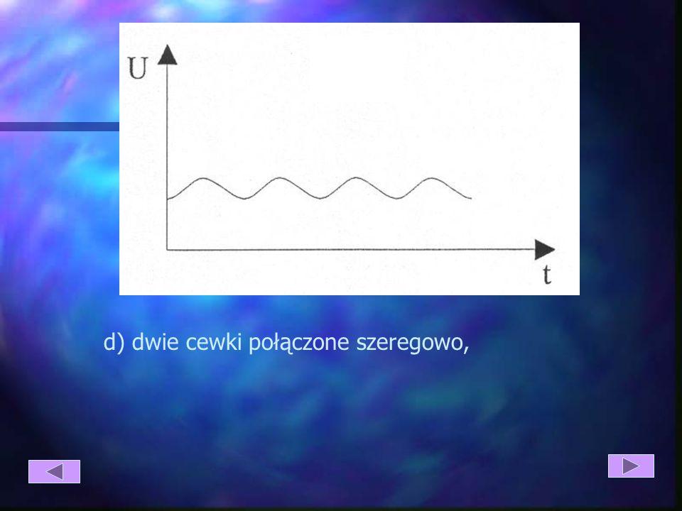 d) dwie cewki połączone szeregowo,
