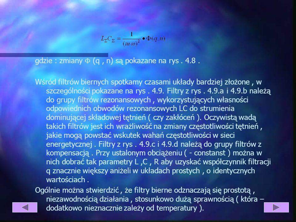 gdzie : zmiany  (q , n) są pokazane na rys . 4.8 .