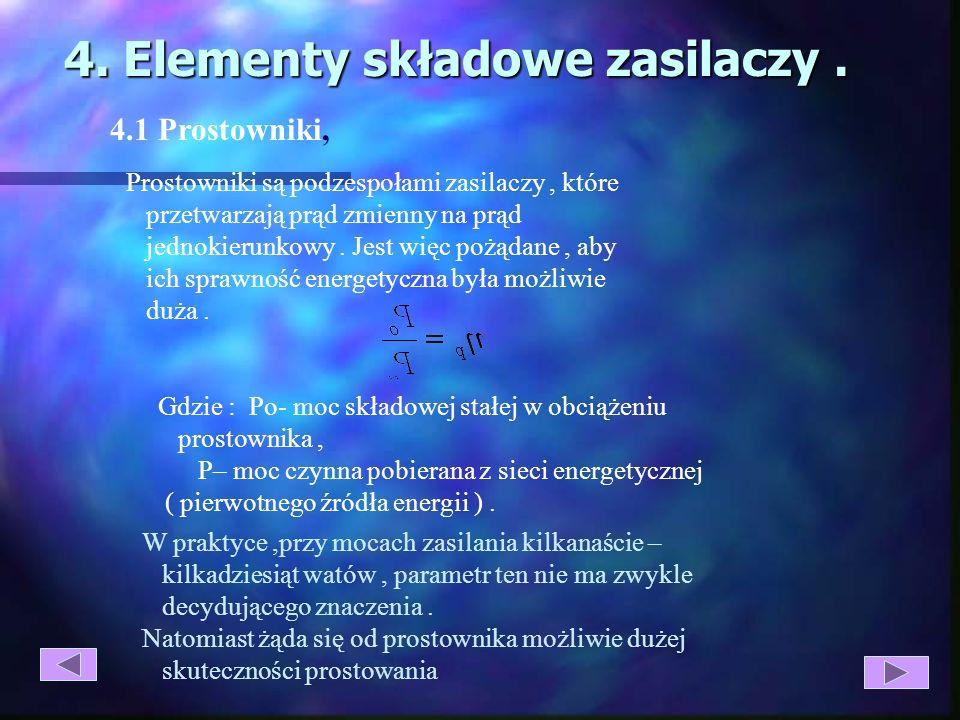4. Elementy składowe zasilaczy .