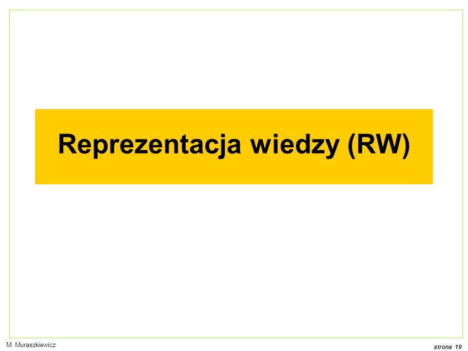 Reprezentacja wiedzy (RW)