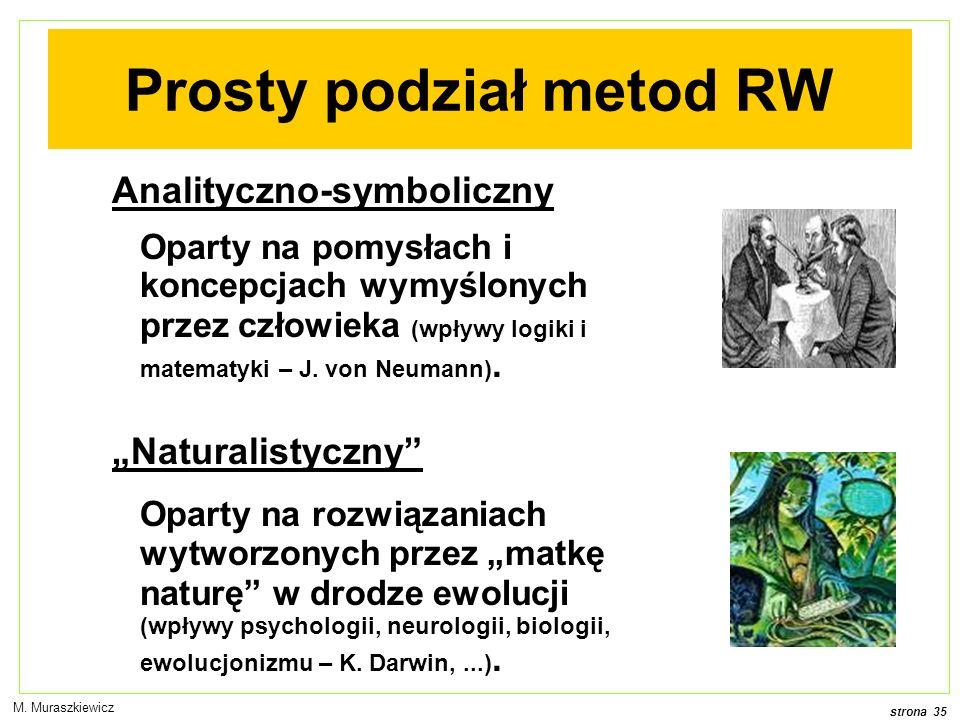Prosty podział metod RW
