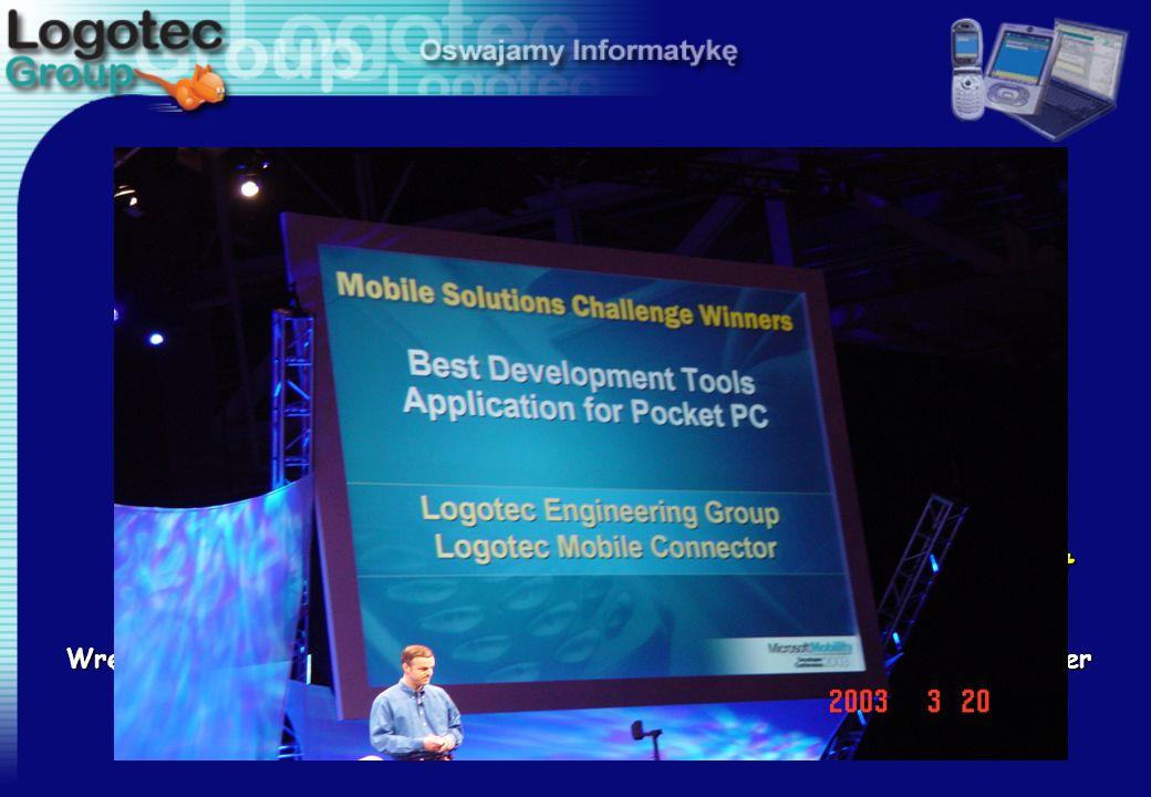 """Logotec Mobile@Connector zwyciężył z cała międzynarodową w konkurencją otrzymując tytuł """"Best Development Tool for Pocket PC"""