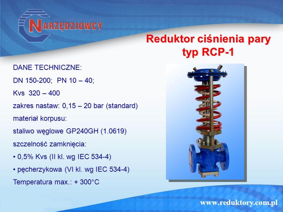 Reduktor ciśnienia pary typ RCP-1