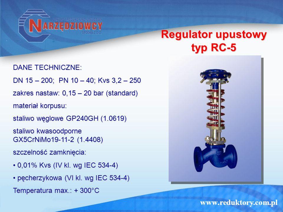 Regulator upustowy typ RC-5
