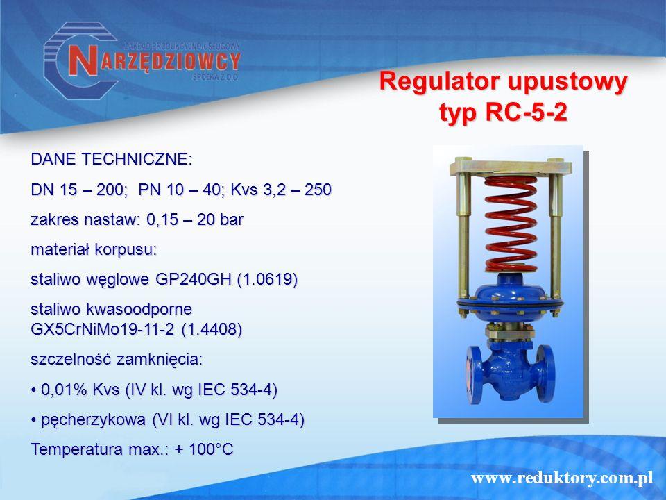 Regulator upustowy typ RC-5-2