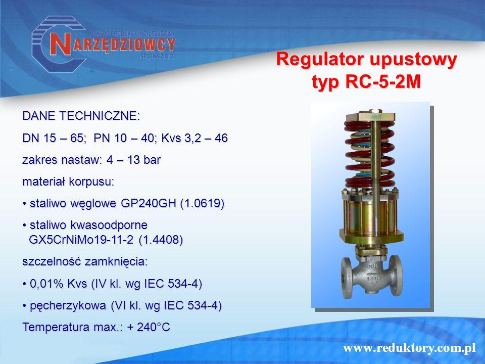 Regulator upustowy typ RC-5-2M