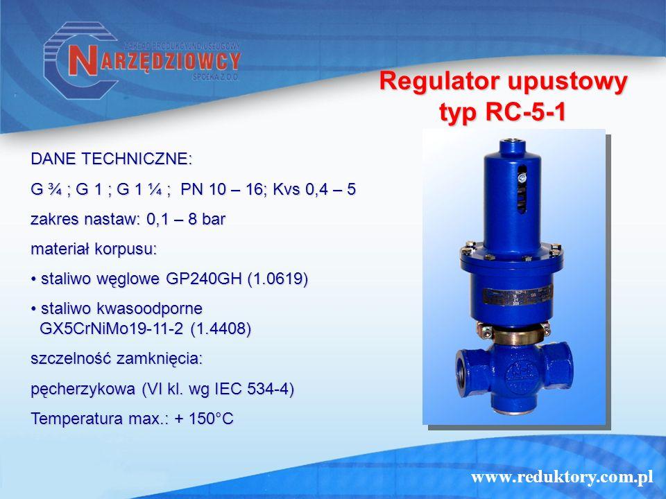 Regulator upustowy typ RC-5-1