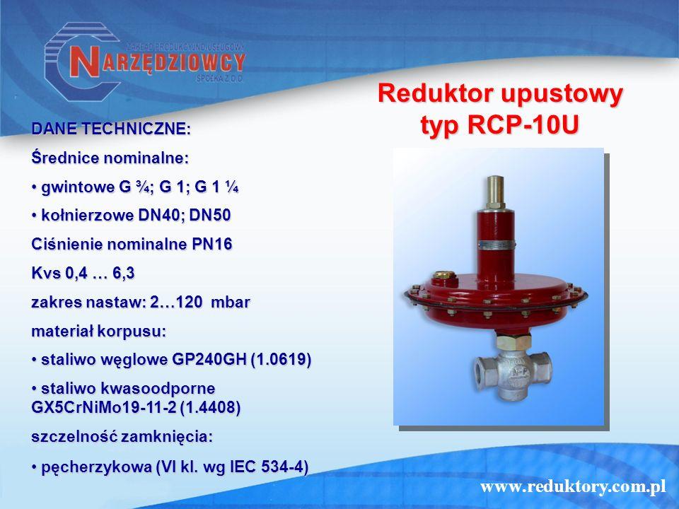 Reduktor upustowy typ RCP-10U