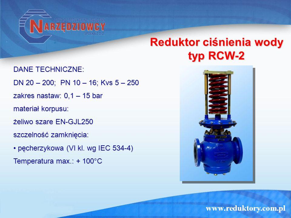 Reduktor ciśnienia wody typ RCW-2