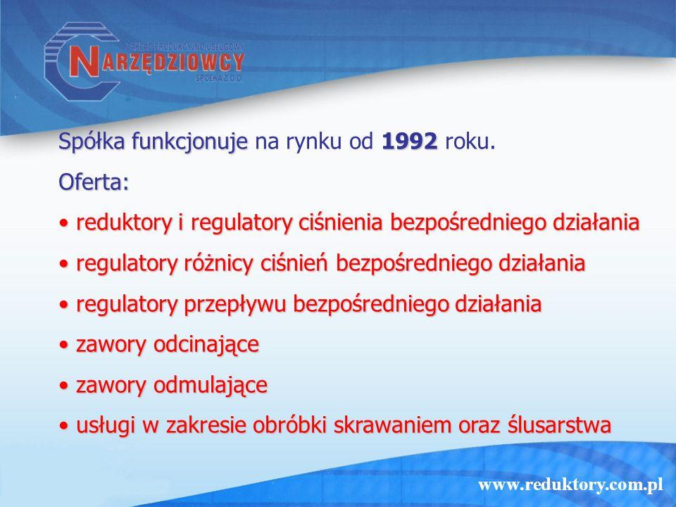 Spółka funkcjonuje na rynku od 1992 roku.