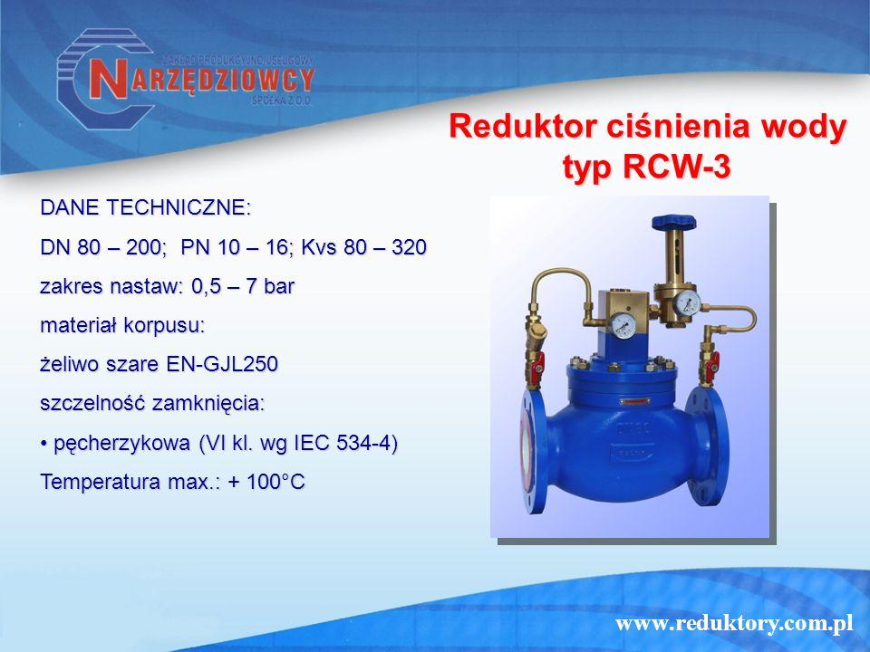Reduktor ciśnienia wody typ RCW-3