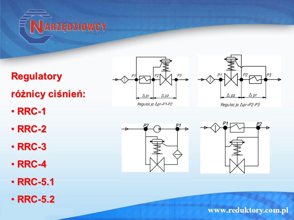 Regulatory różnicy ciśnień: RRC-1 RRC-2 RRC-3 RRC-4 RRC-5.1 RRC-5.2