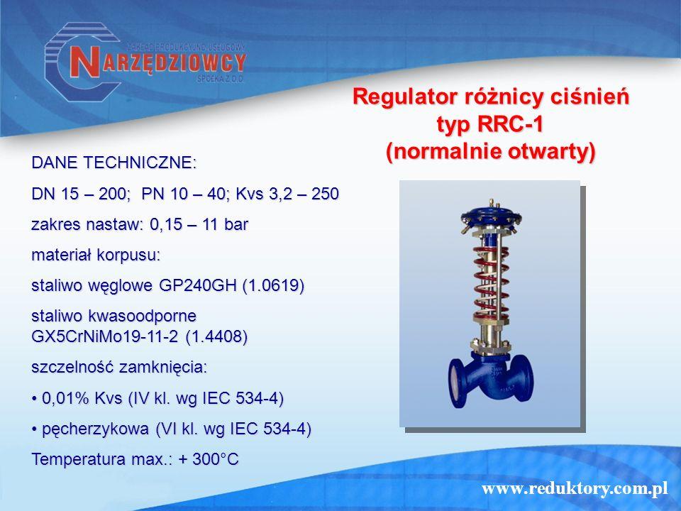 Regulator różnicy ciśnień typ RRC-1 (normalnie otwarty)