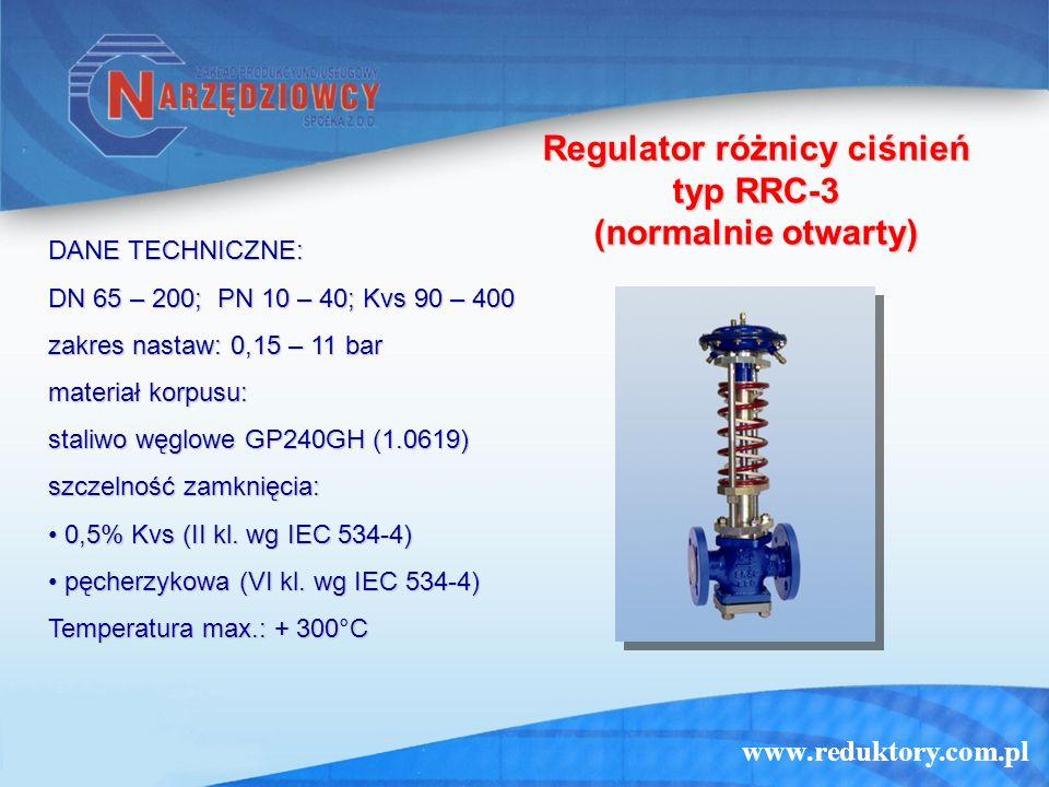 Regulator różnicy ciśnień typ RRC-3 (normalnie otwarty)