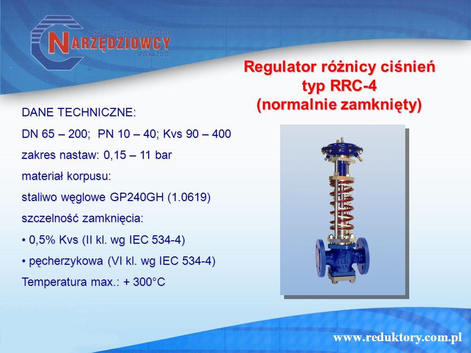 Regulator różnicy ciśnień typ RRC-4 (normalnie zamknięty)