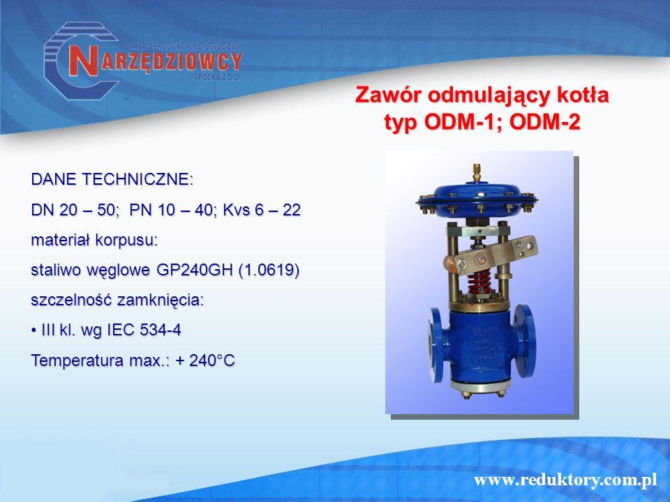 Zawór odmulający kotła typ ODM-1; ODM-2