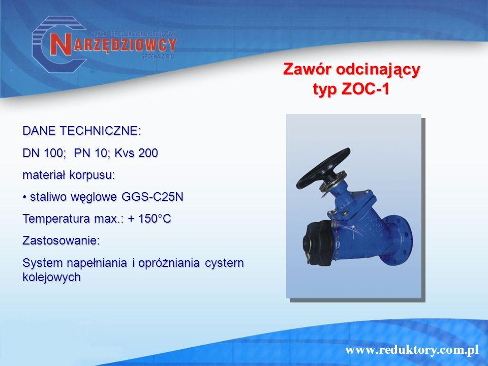 Zawór odcinający typ ZOC-1