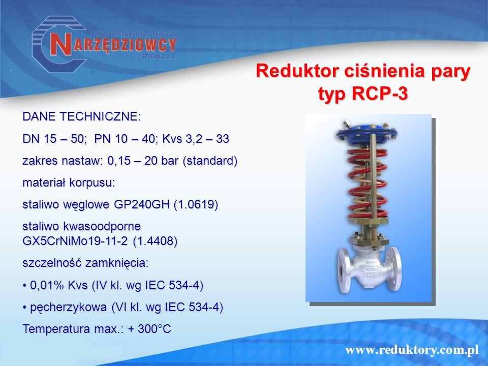 Reduktor ciśnienia pary typ RCP-3