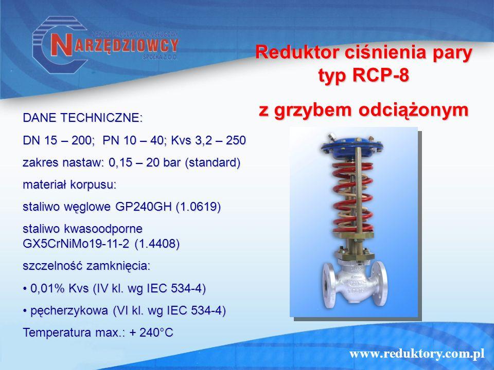 Reduktor ciśnienia pary typ RCP-8