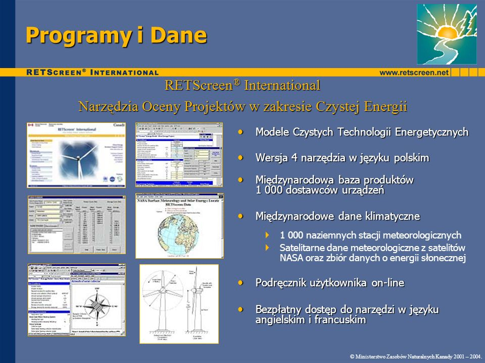 Programy i Dane RETScreen® International