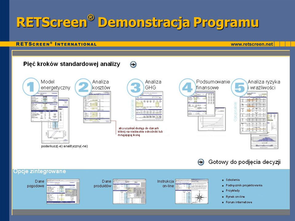 RETScreen® Demonstracja Programu