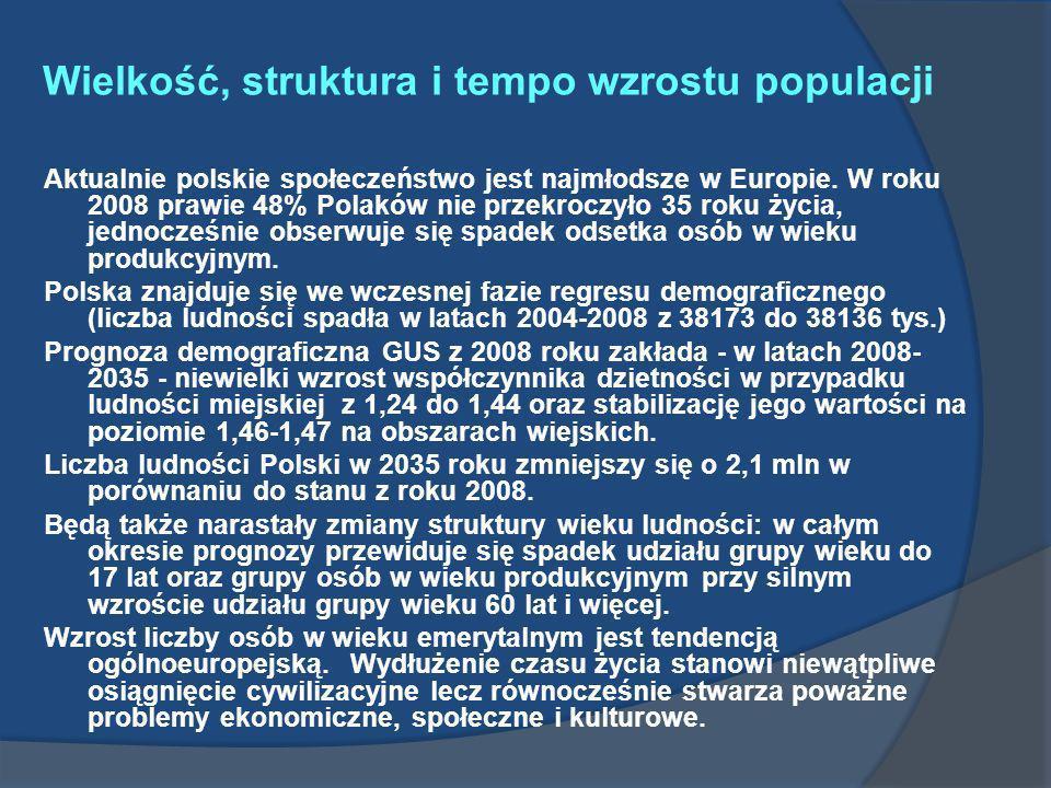 Wielkość, struktura i tempo wzrostu populacji
