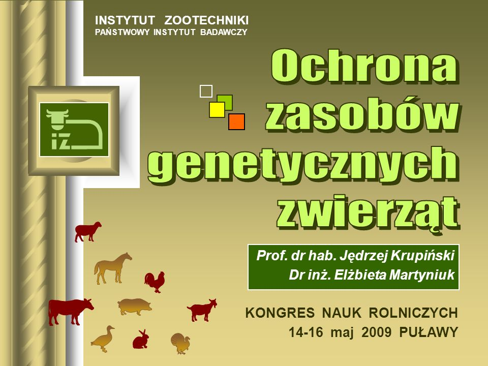 Prof. dr hab. Jędrzej Krupiński Dr inż. Elżbieta Martyniuk