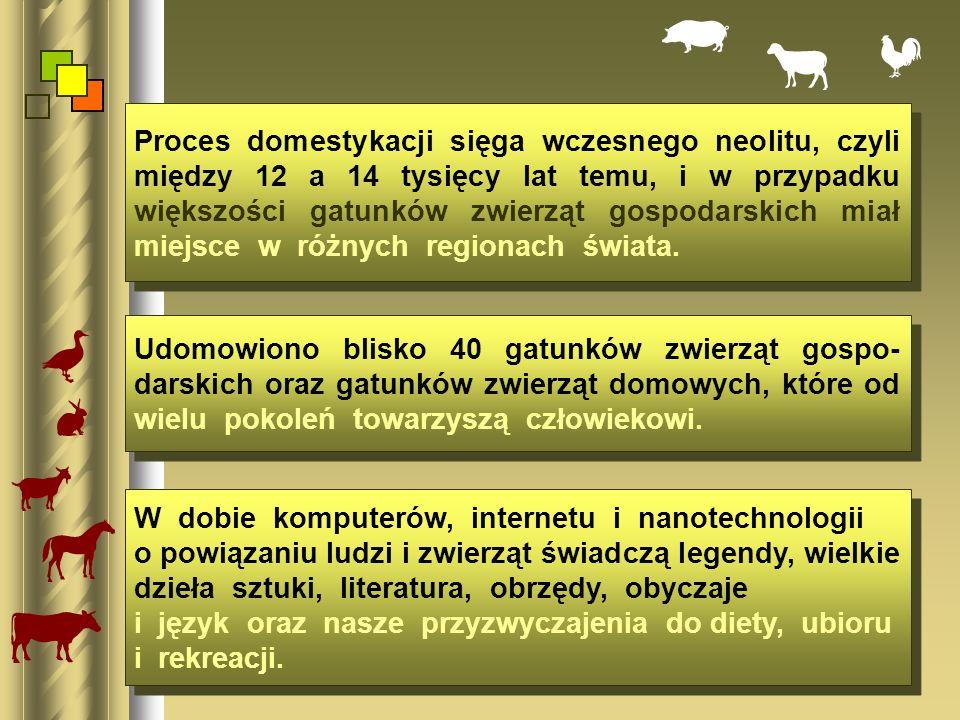 Proces domestykacji sięga wczesnego neolitu, czyli między 12 a 14 tysięcy lat temu, i w przypadku większości gatunków zwierząt gospodarskich miał miejsce w różnych regionach świata.