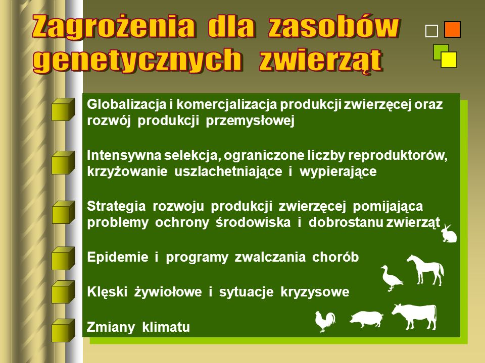 Zagrożenia dla zasobów genetycznych zwierząt