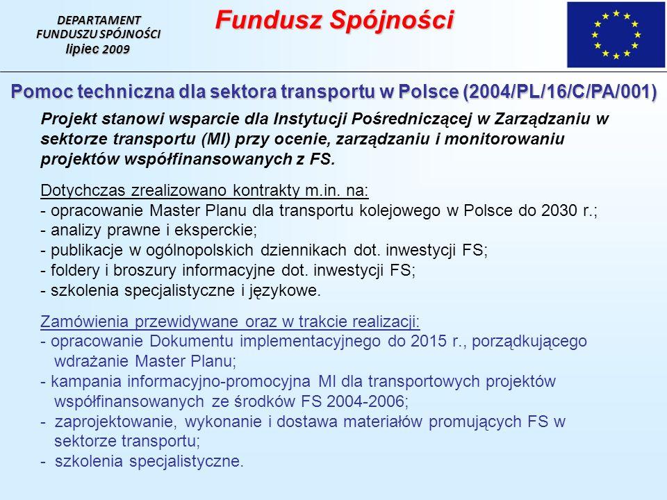 Pomoc techniczna dla sektora transportu w Polsce (2004/PL/16/C/PA/001)