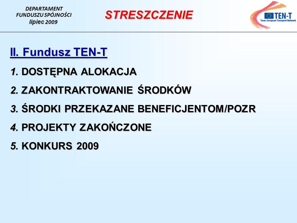DEPARTAMENT FUNDUSZU SPÓJNOŚCI. lipiec 2009. STRESZCZENIE.