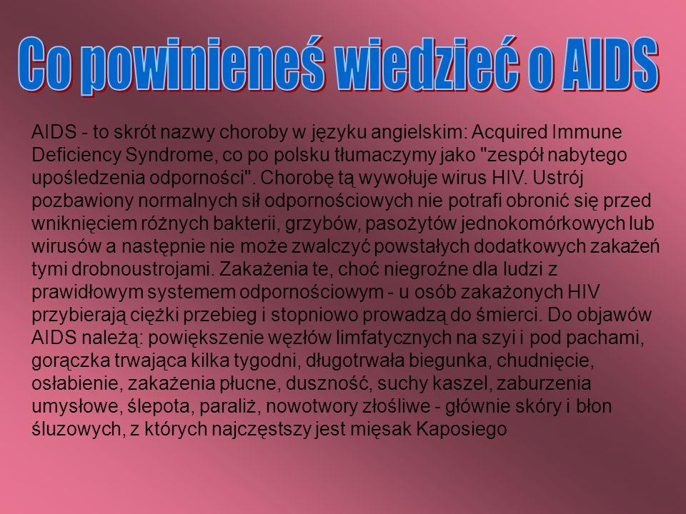 Co powinieneś wiedzieć o AIDS