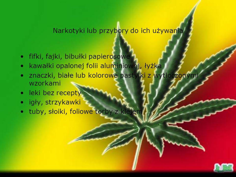 Narkotyki lub przybory do ich używania